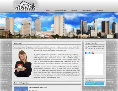 Classic Turnkey Properties Website by Tripleonesix